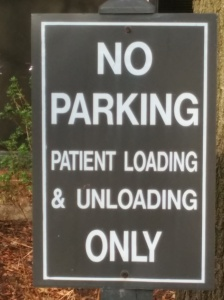 Unfriendly Patient sign